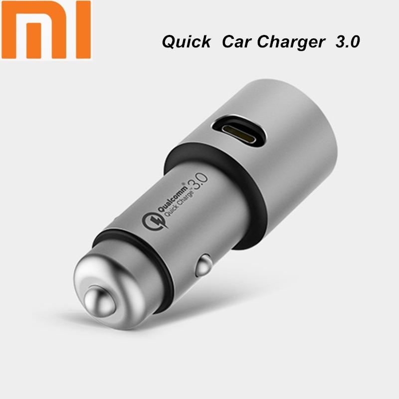 Original Xiaomi Mi Dual USB Car Charger 5V/3A 9V/2A 12V/1.5A Metal Universal Quick Charger QC 3.0 for iPhone Samsung LG Huawei