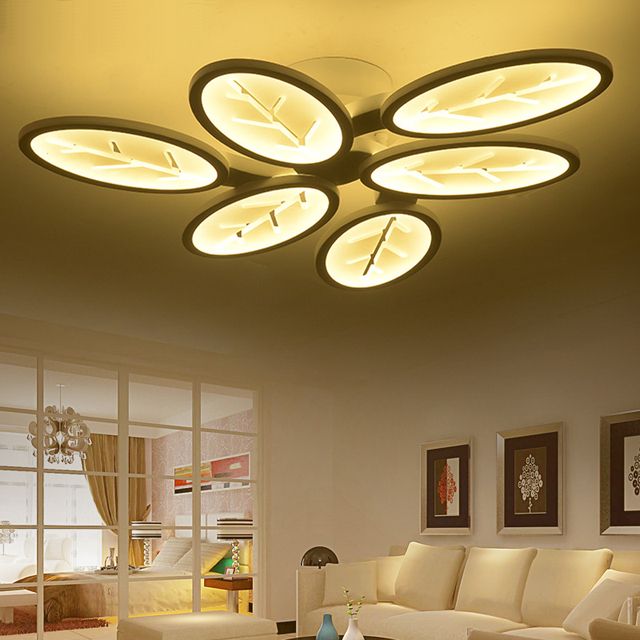 NEW 2017 Modern Ceiling Lights Leaf Shape Modern Fashionable Design Living  Room Bedroom Dining Room Lamp