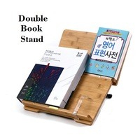 Natural Bamboo Reading Frame Solid Wood Frame Reading Books Log Reading Frame Korea Stationery Holder To
