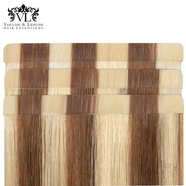 Vl Tape In Remy 100 Human Hair Extensions Tape Hair Weft Ombre