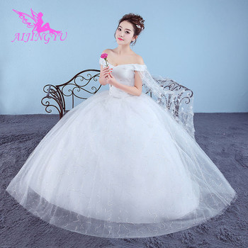 24f33d68800de AIJINGYU 2018 custom made free shipping new hot selling cheap ball gown  lace up back formal bride dresses wedding dress WK881