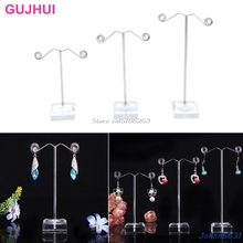 3Pcs Acrylic Metallic Tree Earring Necklace Jewellery Show Stand Rack Holder Sizzling -Y207 Drop Delivery