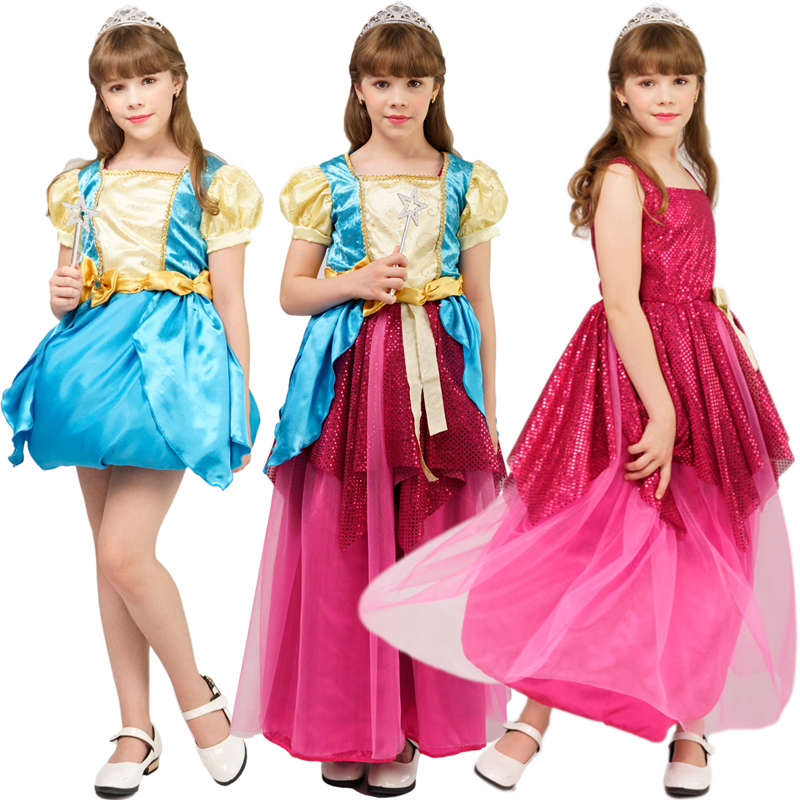 New Arrival Girl Transforming Dress Princess Costume Copslay Carnival Birthday Party Role Play Girl Xmas Gift