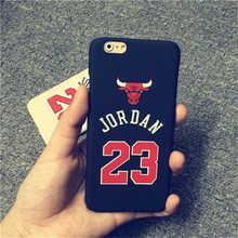 Luxury Phone Cases Jordan Chicago Bulls Case for iPhone 5 5s 6 6 Plus PC Style