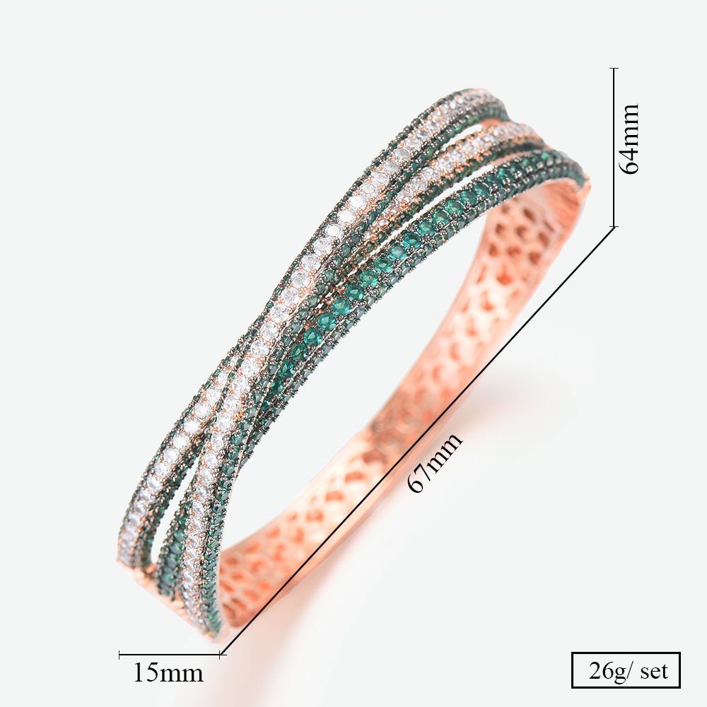GODKI Wide Big Luxury Stackable Statement Bangle For Women Wedding Full Cubic Zircon Crystal CZ Dubai Silver Bracelets 2019-in Bangles from Jewelry & Accessories    2