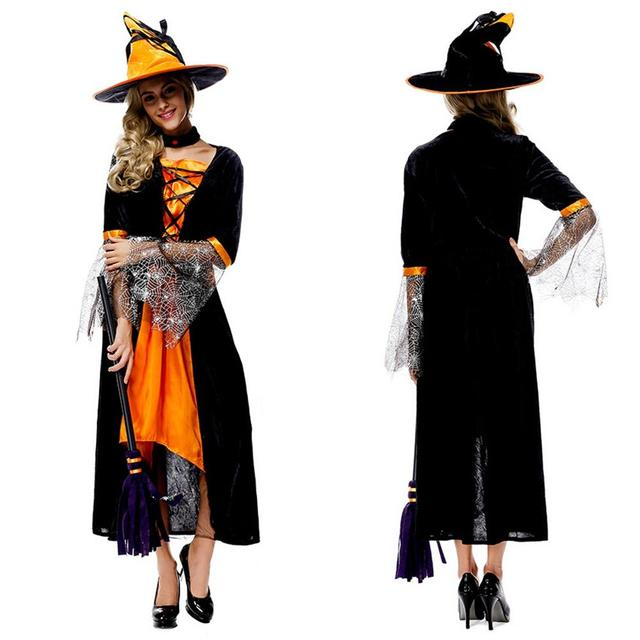 4f35e438f2c One Set Halloween Carnival Cosplay Party Costume Suit Adult Witch ...