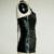 M, XL Mujeres Sexy Corsé De Vinilo Vestido Halter de Cuero de Imitación Negro Bustier Overbust W841002