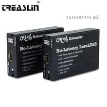 TreasLin 100 м HDMI Cat6 Extender над Cat5e Cat7 сетевой кабель без потерь передатчик HDMI без задержки HDMI приемник для ТВ DVD