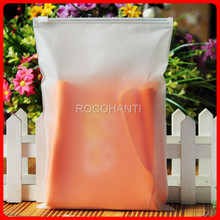 100x 20 Microns Custom Logo  Zipper Plastic Frosted Bags , Zip Lock Self Sealing Bag for Shopping Clothing Gift Packaging Bags