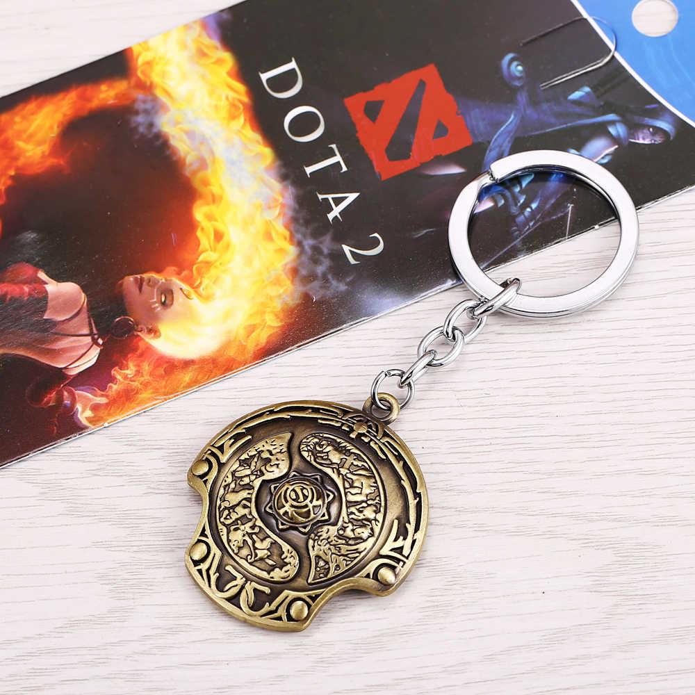 New Arrival Dota 2 Bất Tử Vô Địch Lá Chắn Móc Chìa Khóa Dota2 keychain Xe Keychain TI 5 Aegis Nhà Vô Địch Mặt Dây Chuyền porte khóa của âm nhạc
