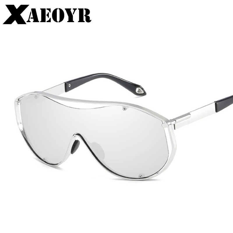 XAEOYR New UV400 Men Sunglasses One-piece Steampunk Goggles Impact-resistant Lens Big Si ...