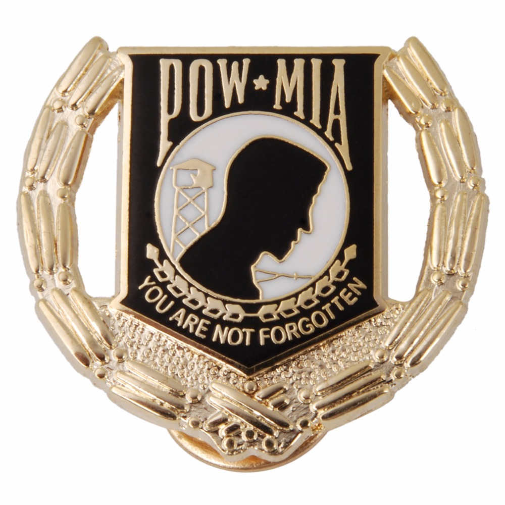 US USA ARMY POW MIA PRISONER OF WAR MILITARY HAT LAPEL PIN