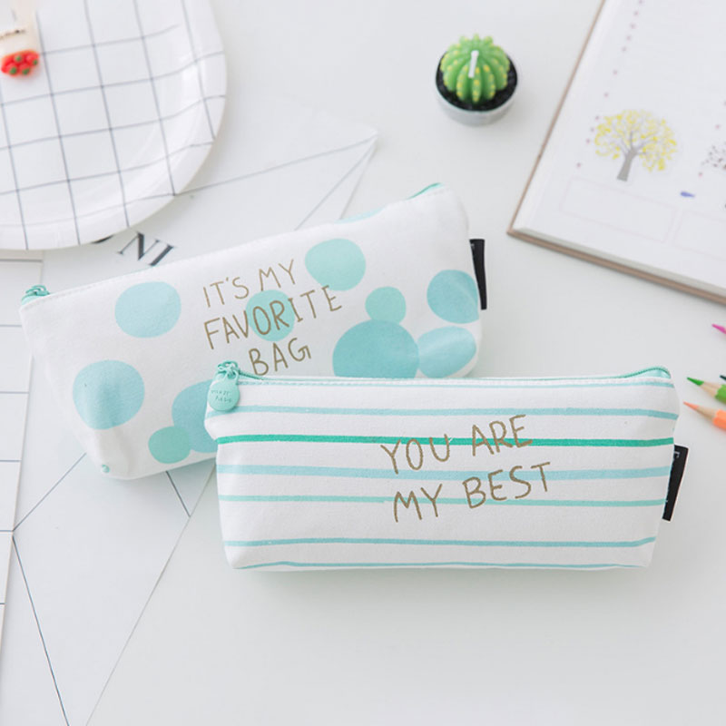 Wulekue Women Cosmetic Bag Student <font><b>Pencil</b></font> Case Ladies Zipper Small Storage Bag Cosmetic Cases Makeup Bag Coin Pouch image