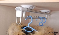 45cm 18 Inches Top Mounted Pull Out Hanger Hanging Rail Coat Jacket Cloth Robe Closet Wardrobe