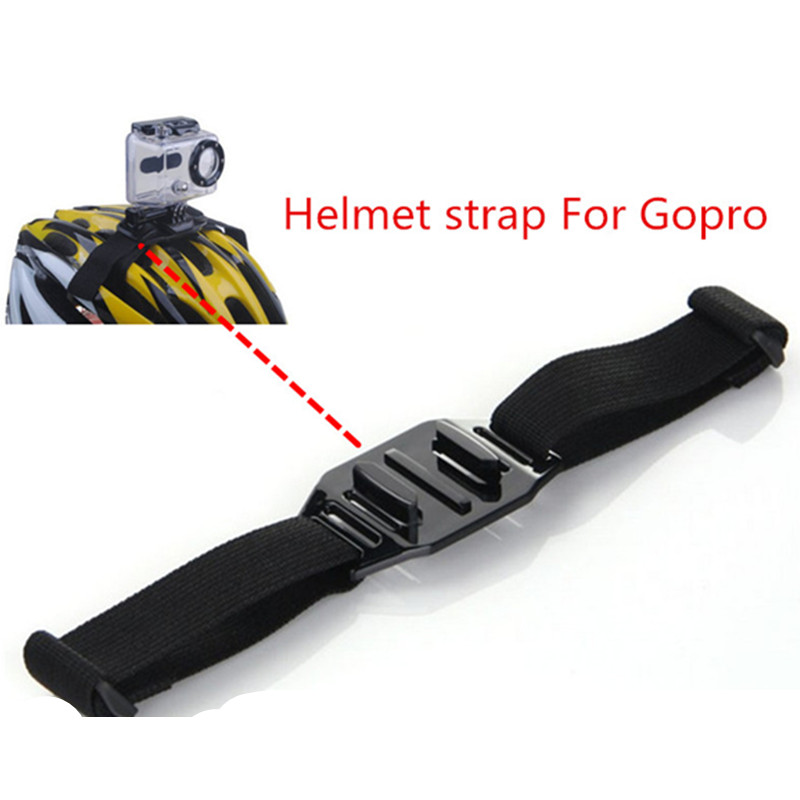 Helmet Strap For Gopro Accessories Bicycle Helmet Belt Mount  For Gopro Hero 3 Hero 4 SJCAM Sj4000 Sj5000 SJ7000 Xiaomi Yi