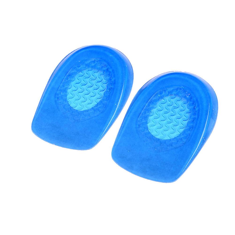 1 par de silicone gel calcanhar almofada palmilhas solas aliviar a dor do pé protetores spur suporte sapato almofada pés cuidados inserções homem e mulher