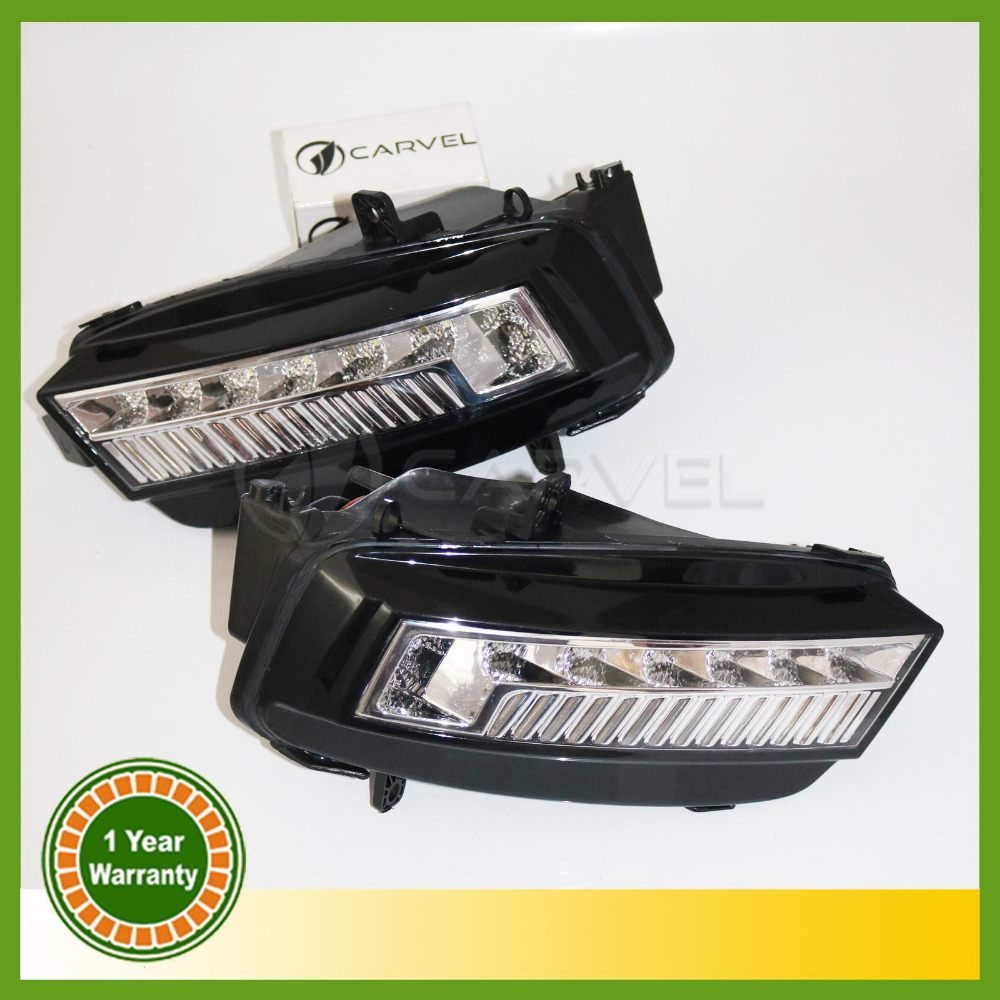 ФОТО For VW Golf 7 MK7 2013 2014 2015 2Pcs 10 High Quality LED DRL Daytime Running Light Fog Light Fog Lamp
