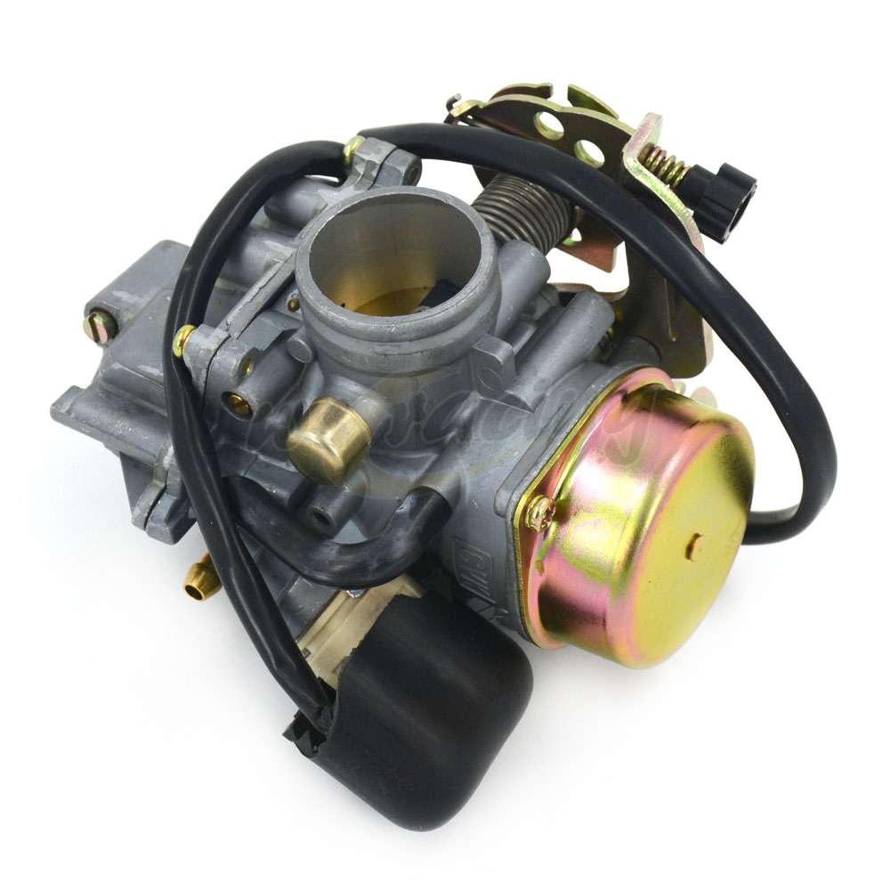 Motorcycle CVK 30mm CVK30 Carb Carburetor For ATV Scooter GY6 150 VOG TANK 260 200 250CC alconstar cvk30 carburetor with heater for aeolus vog atv utv tank 260 yp250 xy260t linhai 260 scooter for honda for yamaha