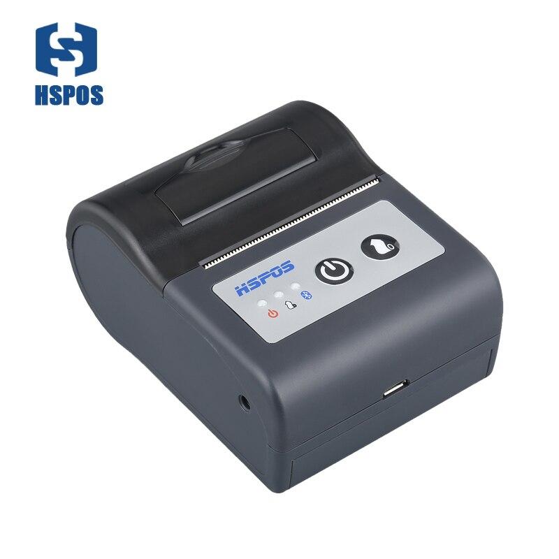 Wifi 2 inch mini portable barcode printer anti water easy paper loading black mark paper location sensor mini barcode printer