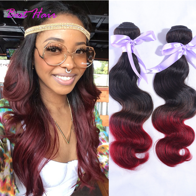 Ombre Hair Extensions 3pcslot Malaysian Body Wave Hair 1b99j Ombre