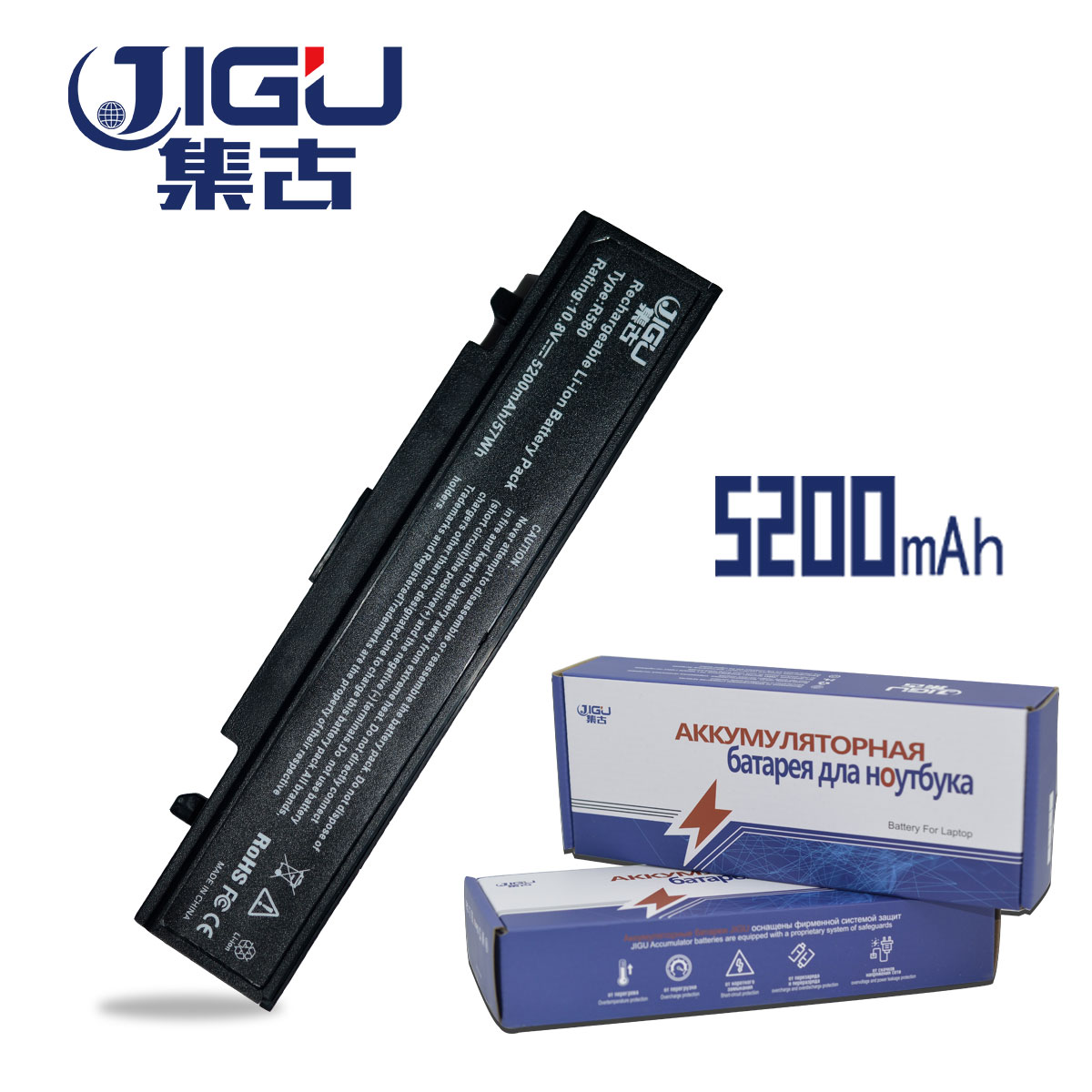 JIGU 6CELLS Laptop Battery AA-PB9NC6B PB9NC6B For SamSung R580 R468 R470 R478 R480 new laptop c shell cover for samsung r478 r480 ba75 0411b