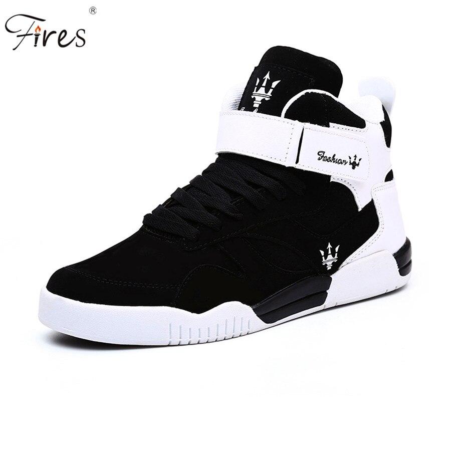Срабатывает 2018 плоской подошве спортивная обувь Для мужчин высокие кроссовки для Для мужчин на шнуровке прогулочная кроссовки Для мужчин ... ...