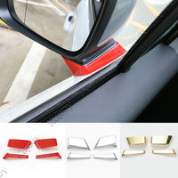 3 Color Red Car Styling For Jeep Renegade 2015 2016 Front Review Mirror Base Decorative Cover Trim ABS Car Styling Accessories