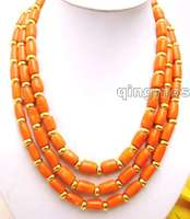 SALE Big 10 11MM Pink knobble High Quality natural Coral & GP beads 18 20 3 Strands NECKLACE nec5770 Free ship