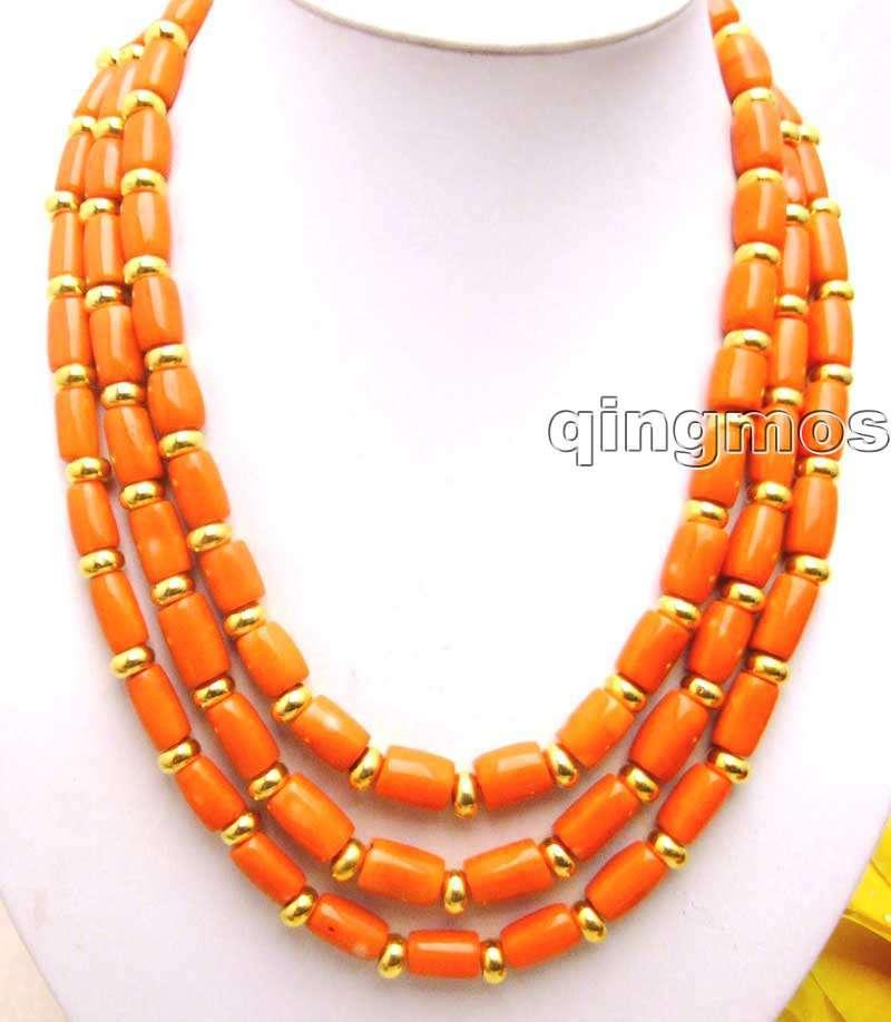 Vente gros 10-11 MM rose knobble haute qualité naturel corail & GP perles 18-20