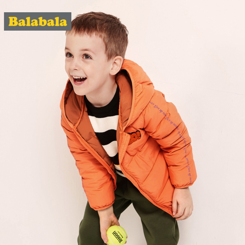 Balabala Toddler Boy Lighweight Down Jacket with Applique Children Kid Hooded Puffer Jacket with Full Zip Silky Polyester LinedBalabala Toddler Boy Lighweight Down Jacket with Applique Children Kid Hooded Puffer Jacket with Full Zip Silky Polyester Lined