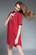 New Arrivals Modal Nightgowns Soft Home Dress Sexy Nightwear Women Sleepwear Solid Sleep Lounge Vintage Nightgown Female