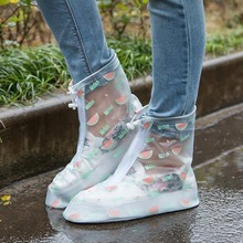 Anti-Slip Waterproof Thickened Women Reusable Shoe Covers Rain Boots Men Shoe Protector Summer Protective Rain Cover for Shoes