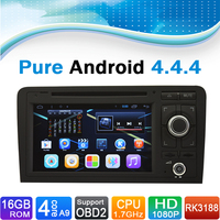 Pure Android 4 4 4 System For Audi A3 Radio For Audi A3 DVD For Audi