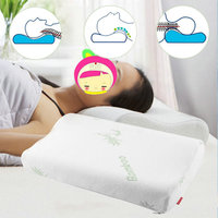 Help Sleep Bamboo Fiber Pillow Slow Rebound Memory Foam Pillow Orthopedic Neck Cervical Health Care For