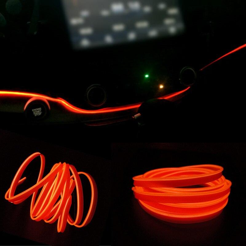 2 Meters clamping-edge With Fin EL Wire Flexible Neon Car 10 Colors Car Decorate cold Light  + 12V Cigarette lighter Drive 2m auto interior refit light clamping edge el wire flexible neon car decorate with cigarette lighter drive for audi bmw benz vw