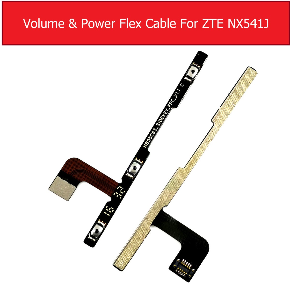 Genuine Power & Volume Flex Cable For ZTE Nubia N1 NX541J Volume & Power Side key Button Switch Flex Ribbon Replacement RepairGenuine Power & Volume Flex Cable For ZTE Nubia N1 NX541J Volume & Power Side key Button Switch Flex Ribbon Replacement Repair