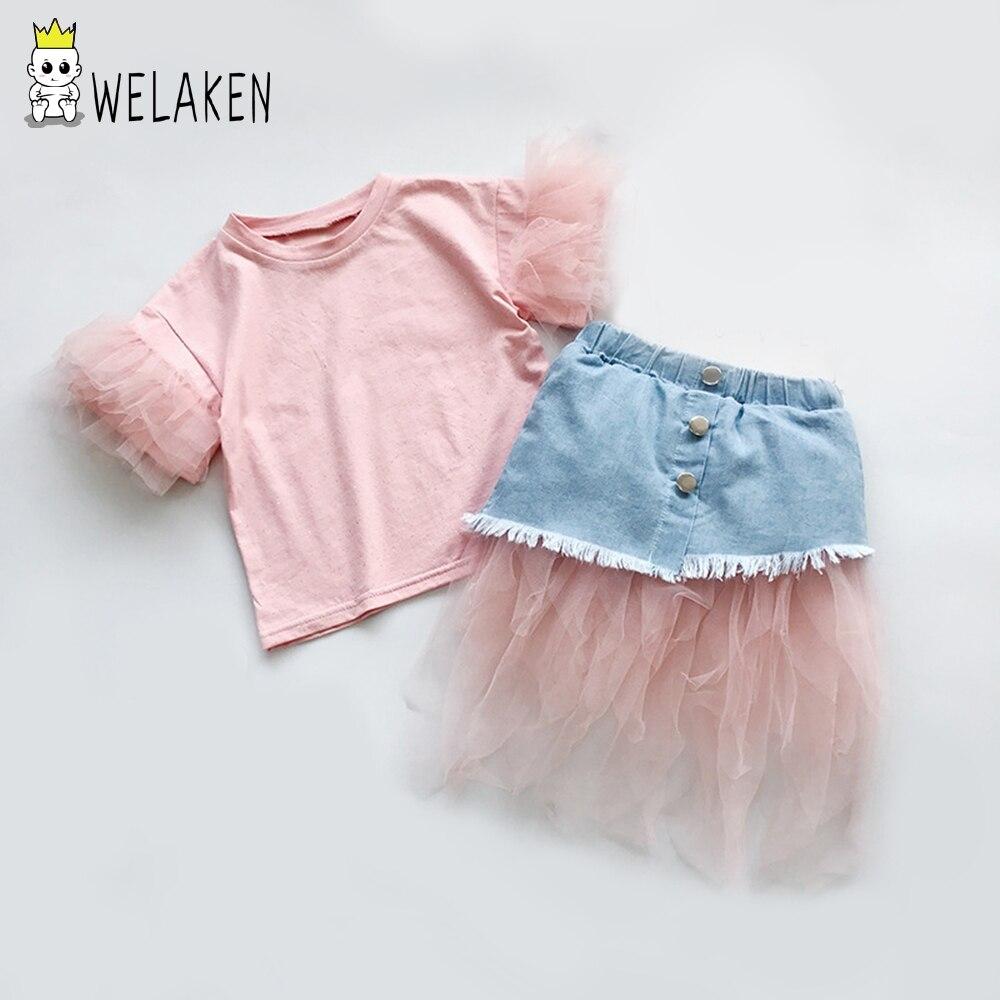 40f7cf829 Conjunto de falda y Top ropa para niñas, traje elegante para niñas, bebés,  niñas, Princesa, ...