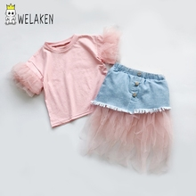 Skirt and Top Set Kids Girl Clothes Stylish Suit for Girl Toddler Baby Girl's Princess Clothing Sets Summer Girl Costume Outfits