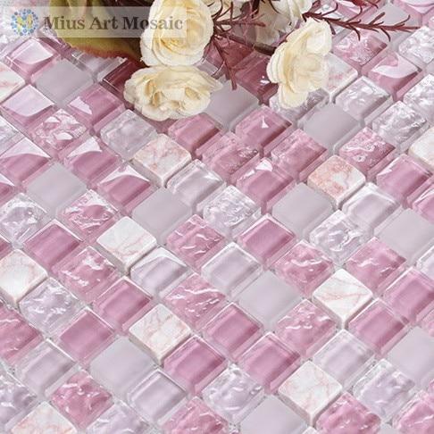 Achetez en gros rose carreaux de mosa que de verre en for Carrelage mosaique rose