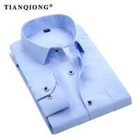 TIAN QIONG 2018 New Arrival Men Shirt Spring Autumn Shirt Brand Clothing Long Sleeve COTTON Fabric