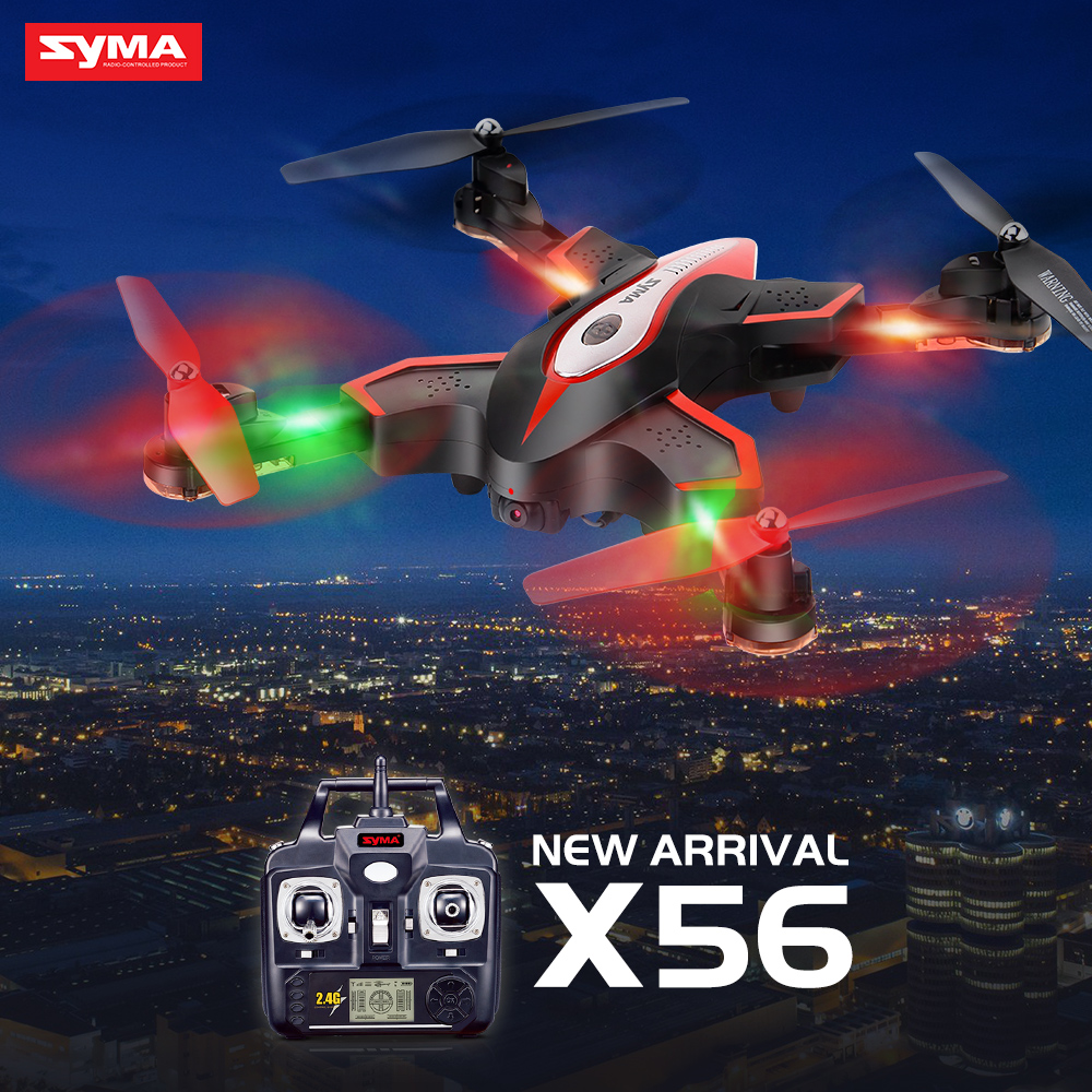 Syma X56 Folding Drone RC Quadcopter 4CH 2.4G Aircraft RC Drone without Camera Remote Control Toys Hover Function Helicopter yc folding mini rc drone fpv wifi 500w hd camera remote control kids toys quadcopter helicopter aircraft toy kid air plane gift