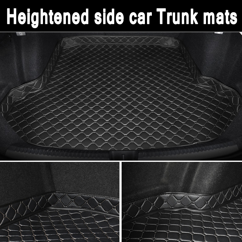 ZHAOYANHUA Custom fit Heightened side car Trunk mats for Honda Vezel Elysion Odyssey Fit jazz