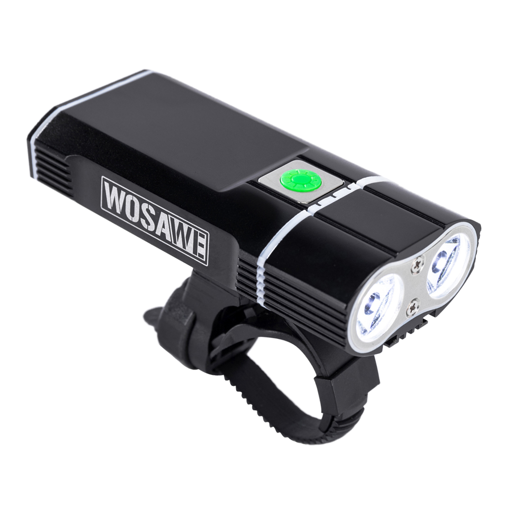 Bicycle Ligh USB Rechargeable LED Lamp Flashlight Accessories for Nght Riding Black