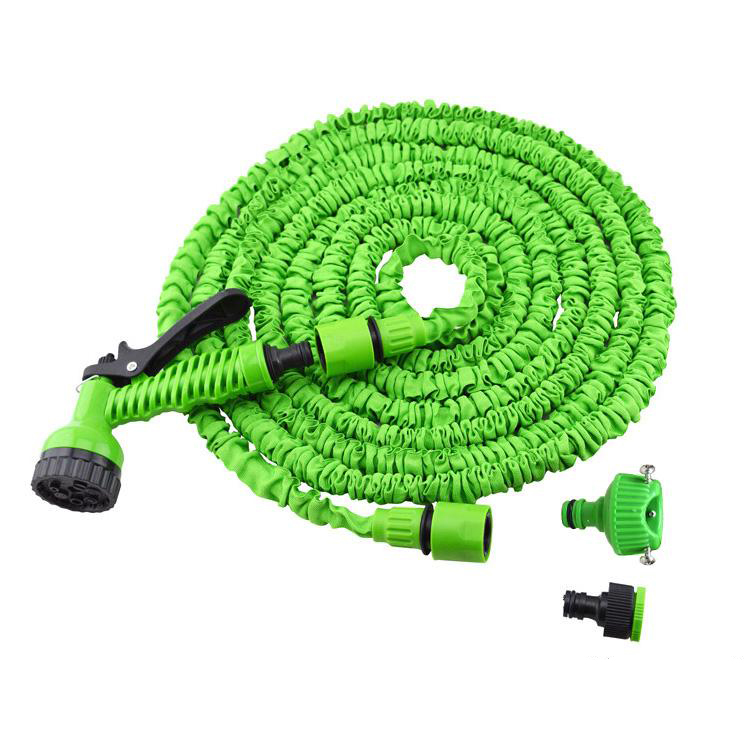 Green 100ft expandable magic flexible hose water for garden car pipe plastic hoses to watering Expandable garden hose 100 ft