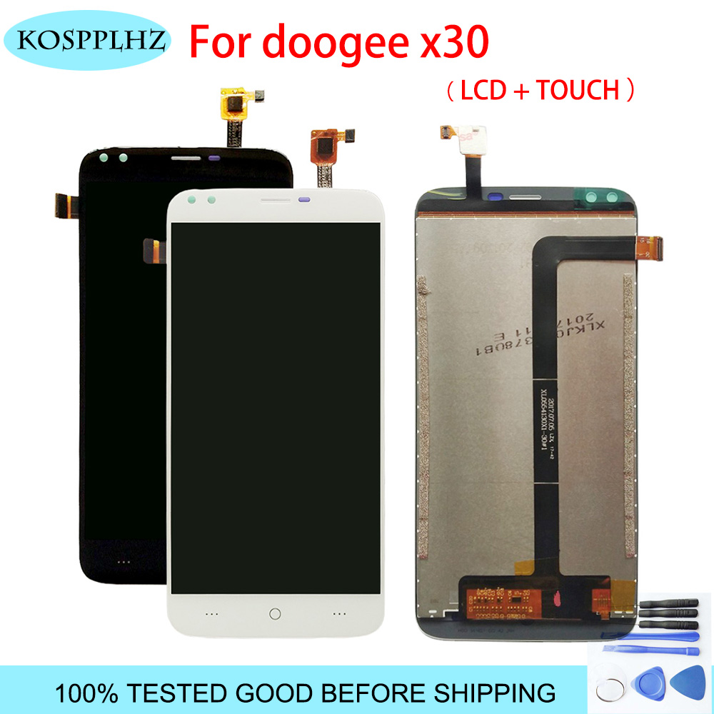 KOSPPLHZ 5.5 inch Mobile Phone For Doogee X30 LCD Display+Touch Screen Assembly Repair Part Phone + tools