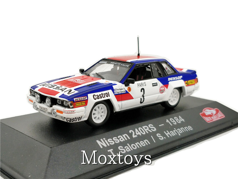 1:43 ATLAS Editions Collections Rally Monte Carlo Model Car Nissan 240RS 1984 Diecast Miniature Racing