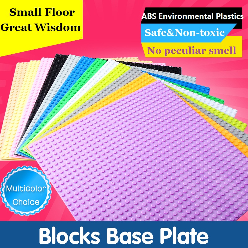 Updated Version Small Blocks Building Mini Toys DIY Baseplates 32*32 Dots Base Plate Size 25*25cm Toys Fits For Lepin Figures 32 32 dots plastic bricks the island straight crossroad curve green meadow road plate building blocks parts bricks toys diy