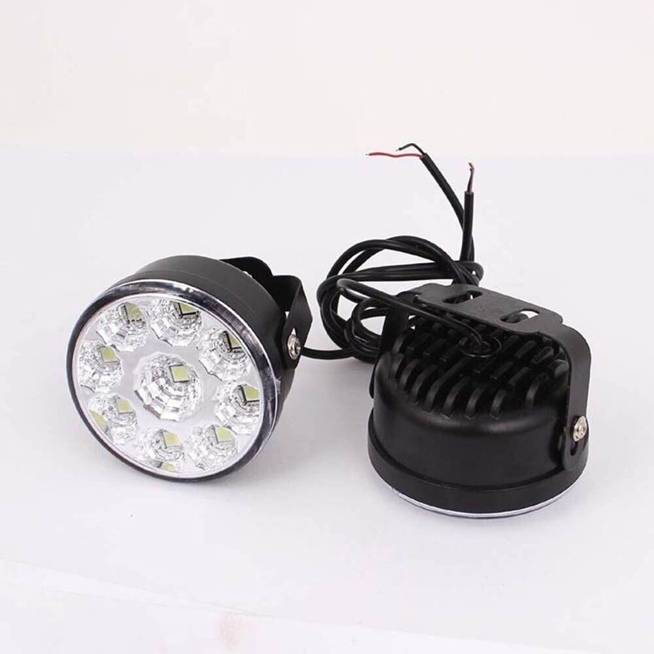 Super Bright 9 LED Car LED Fog Light White DRL Daytime Running Light headlight Head Lamp case for ford nissan vw passat lada h3 80w 16 cree led super bright pure white fog tail head lamp bulbs auto driving daytime running light car headlight hp href page 9 page 1 page 2 href