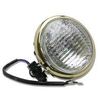 Retro 5 Universal Motorcycle Headlight Front Head Lamp Hi/Lo Beam Fog Light Bulb for Harley Touring Chopper Bobber Cafe Racer