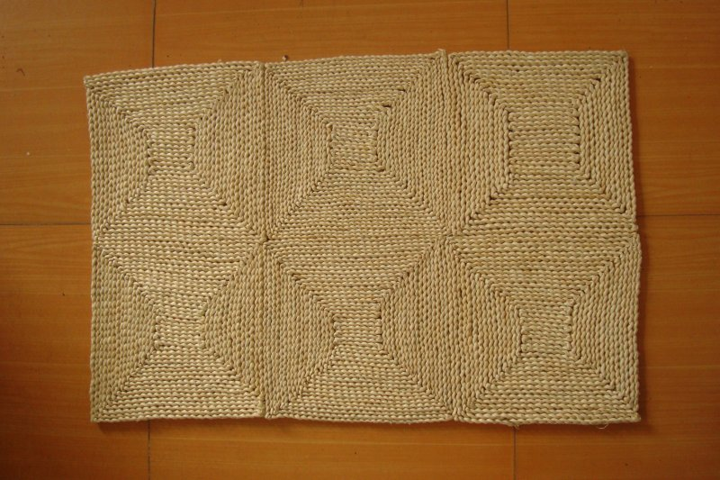 90x60cm Handmade Stitch Corn Bran Braided Mat Liveing Room